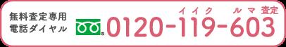 無料査定専用電話ダイヤル 0120-119-603