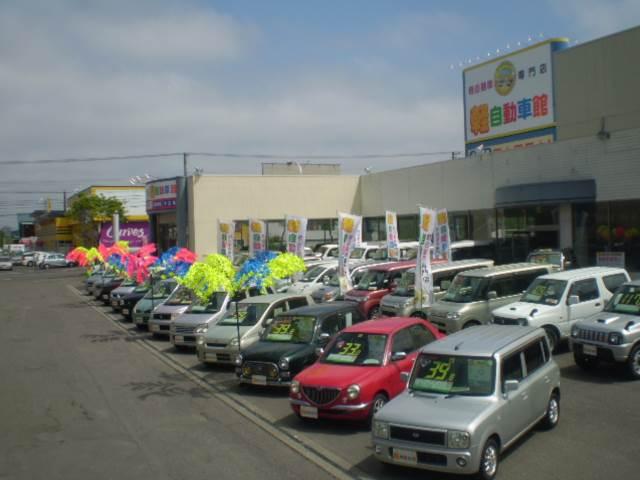 屋内はもちろん、屋外にもお求めやすい軽自動車をたくさん取り揃えています♪